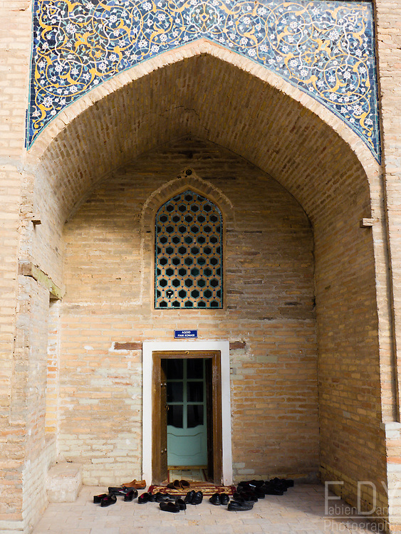 Entrance to a classroom in Mir-i-Arab madrasah, Bokhara