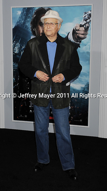 WESTWOOD, CA - DECEMBER 06: Norman Lear attends the Los Angeles premiere of 'Sherlock Holmes: A Game Of Shadows' at Regency Village Theatre on December 6, 2011 in Westwood, California.
