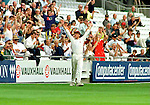 Pix: Shaun Flannery/shaunflanneryphotography.com...COPYRIGHT PICTURE>>SHAUN FLANNERY>01302-570814>>07778315553>>..28th August 1998..............Doncaster Town v Bath..Abbot Ale Cup final at Lords..Doncaster Town's Graeme Attenborough acknowledges the Doncaster fans after catching out Bath batsman Rupert Swetman in the Abbot Ale Cup at Lords.