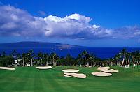 Wailea Emerald hole number 18 designed by Robert Trent Jones II on Maui
