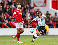 Bolton Wanderers' Gary O'Neil competing with Nottingham Forest's Matty Cash <br /> <br /> Photographer Andrew Kearns/CameraSport<br /> <br /> The EFL Sky Bet Championship - Nottingham Forest v Bolton Wanderers - Sunday 5th May 2019 - The City Ground - Nottingham<br /> <br /> World Copyright © 2019 CameraSport. All rights reserved. 43 Linden Ave. Countesthorpe. Leicester. England. LE8 5PG - Tel: +44 (0) 116 277 4147 - admin@camerasport.com - www.camerasport.com