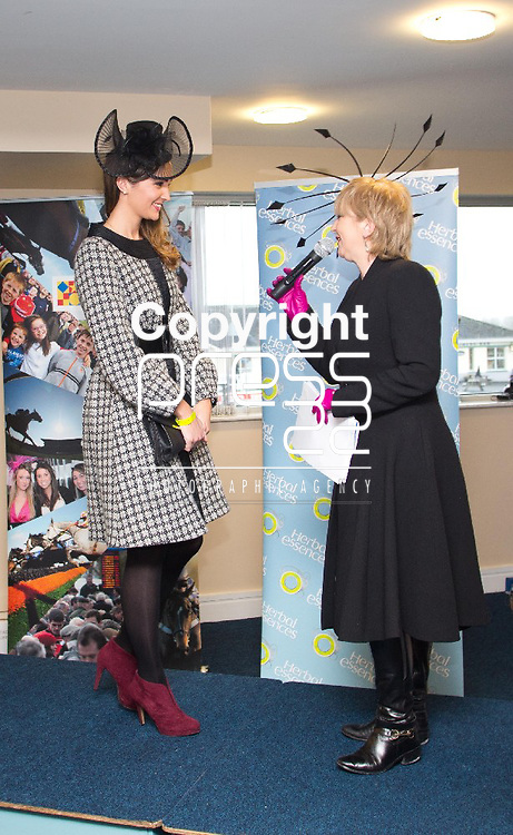28.12.12 Attending the Limerick Racecourse Ladies Day Competition were finalist, Michelle Lenahan with judge Bairbre Power, Fashion Editor Irish Independent. Pic. Alan Place / Press 22 Pic. Alan Place / Press 22