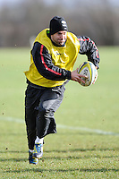 20130131 Copyright onEdition 2013©.Free for editorial use image, please credit: onEdition..Neil De Kock during the Saracens Captains Run at Old Albanians Rugby Club, St Albans on Thursday 31st January 2013 (Photo by Rob Munro)..For press contacts contact: Sam Feasey at brandRapport on M: +44 (0)7717 757114 E: SFeasey@brand-rapport.com..If you require a higher resolution image or you have any other onEdition photographic enquiries, please contact onEdition on 0845 900 2 900 or email info@onEdition.com.This image is copyright onEdition 2013©..This image has been supplied by onEdition and must be credited onEdition. The author is asserting his full Moral rights in relation to the publication of this image. Rights for onward transmission of any image or file is not granted or implied. Changing or deleting Copyright information is illegal as specified in the Copyright, Design and Patents Act 1988. If you are in any way unsure of your right to publish this image please contact onEdition on 0845 900 2 900 or email info@onEdition.com