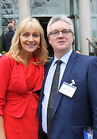 IHF-REPRO FREE IHF Conference Killarney: .Conor O'Kane, Maldron Hotelswith RTE's Miriam O'Callaghan pictured at the IHF 75th anniversary conference in The Malton Hotel, Killarney on Tuesday..Picture by Don MacMonagle