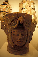 Mayan buial urn or funeraria in the Popul Vuh Museum, Guatemala City, Guatemala