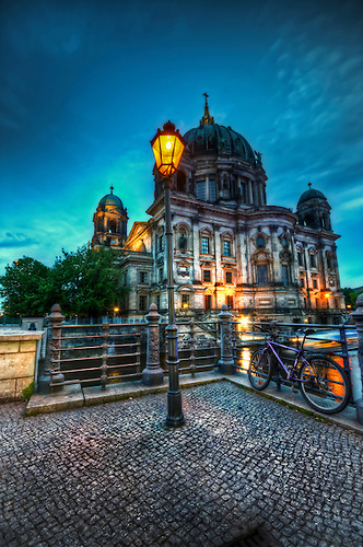 Berliner dom shhot during the blue hour