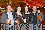 Pictured at Elvis concert at the INEC, Killarney, on Saturday were l-r: Colm McDaid (Tralee) Margaret O'Halloran (Ballyheigue) Caitríona O'Halloran (Ballyheigue) and James Gayson (Tralee).
