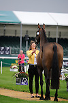 Sophie Jenman during the First Vets Inspection at the 2014 Land Rover Burghley Horse Trials held at Burghley House, Stamford, Lincolnshire