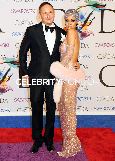 NEW YORK CITY, NY, USA - JUNE 02: John Dempsey and Rihanna arrive at the 2014 CFDA Fashion Awards held at Alice Tully Hall, Lincoln Center on June 2, 2014 in New York City, New York, United States. (Photo by Celebrity Monitor)