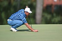 Mikumu Horikawa (JPN) lines up his putt on 9 during round 3 of the WGC FedEx St. Jude Invitational, TPC Southwind, Memphis, Tennessee, USA. 7/27/2019.<br /> Picture Ken Murray / Golffile.ie<br /> <br /> All photo usage must carry mandatory copyright credit (© Golffile | Ken Murray)