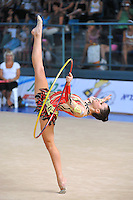 Coral Kremer of Israel performs with hoop at 2010 Holon Grand Prix at Holon, Israel on September 3, 2010.  (Photo by Tom Theobald).