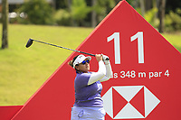 Lizette Salas (USA) in action on the 11th during Round 4 of the HSBC Womens Champions 2018 at Sentosa Golf Club on the Sunday 4th March 2018.<br /> Picture:  Thos Caffrey / www.golffile.ie<br /> <br /> All photo usage must carry mandatory copyright credit (&copy; Golffile | Thos Caffrey)