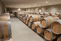 barrel aging cellar chateau reysson haut medoc bordeaux france