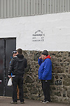 Fraserburgh 2 Strathspey Thistle 2, 06/11/2010. Bellslea Park, Highland League. Supporters forming a queue at the turnstile at Bellslea Park, home of Fraserburgh FC, prior to the club's Highland League fixture against visitors Strathspey Thistle. Nicknamed 'The Broch,' Fraserburgh have been members of the Highland League since 1921 having been formed 11 years earlier. The match ended in a 2-2 draw in front of a crowd of 302. Photo by Colin McPherson.