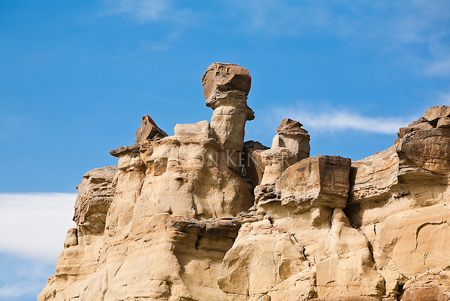 Hoodoos and rock formations along the Marias River in Montana above its confluence with the Missouri River
