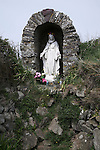 Madonna statue St Non's holy well St Davids Pembrokeshire Wales