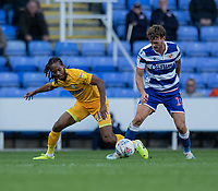 Preston North End's Daniel Johnson (left) vies for possession with Reading's John Swift (right) <br /> <br /> Photographer David Horton/CameraSport<br /> <br /> The EFL Sky Bet Championship - Reading v Preston North End - Saturday 19th October 2019 - Madejski Stadium - Reading<br /> <br /> World Copyright © 2019 CameraSport. All rights reserved. 43 Linden Ave. Countesthorpe. Leicester. England. LE8 5PG - Tel: +44 (0) 116 277 4147 - admin@camerasport.com - www.camerasport.com