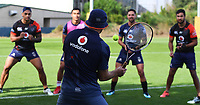 Catching skills.<br /> Vodafone Warriors training session. Mt Smart Stadium, Auckland, New Zealand. NRL Rugby League. Wednesday 9 May 2018 &copy; Copyright photo: Andrew Cornaga / www.photosport.nz