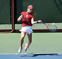 Stanford, CA; Saturday April 19, 2014: Women's Tennis, Stanford vs California.
