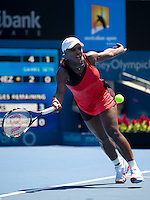 Serena Williams (USA) against Maria Jose Martinez Sanchez (ESP) in the second round of the Ladies Singles. Williams beat Martinez Sanchez 6-1 6-2..International Tennis - Medibank International Sydney - Tues 12 Jan 2010 - Sydney Olympic Park  Tennis Centre- Sydney - Australia ..© Frey - AMN Images, 1st Floor, Barry House, 20-22 Worple Road, London, SW19 4DH.Tel - +44 20 8947 0100.mfrey@advantagemedianet.com