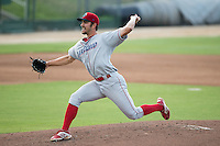 Lakewood BlueClaws starting pitcher Austin Davis (54) in action against the Kannapolis Intimidators at Intimidators Stadium on July 16, 2015 in Kannapolis, North Carolina.  The BlueClaws defeated the Intimidators 3-1.  (Brian Westerholt/Four Seam Images)