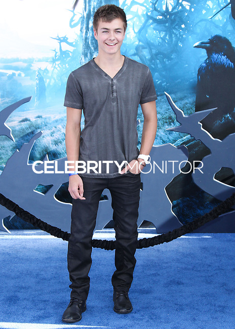 HOLLYWOOD, LOS ANGELES, CA, USA - MAY 28: Peyton Meyer at the World Premiere Of Disney's 'Maleficent' held at the El Capitan Theatre on May 28, 2014 in Hollywood, Los Angeles, California, United States. (Photo by Xavier Collin/Celebrity Monitor)