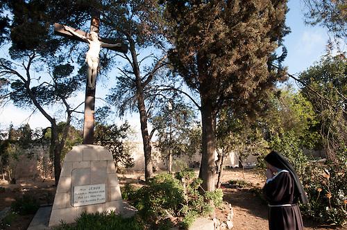 Jerusalem, mai 2011. Monastere des Clarisses de Jerusalem.