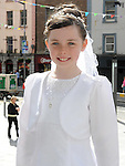 Loivia Perry from Scoil Aonghusa who recieved first holy communion at St Peters church West street. Photo: Colin Bell/pressphotos.ie