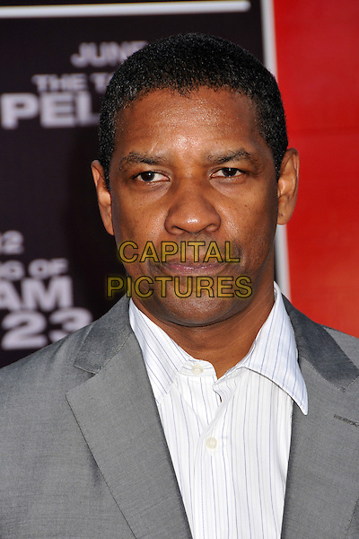 "DENZEL WASHINGTON.""The Taking of Pelham 123"" Los Angeles Premiere held at Mann's Village Theatre, Westwood, CA, USA..June 4th, 2009.headshot portrait grey gray white .CAP/ADM/BP.©Byron Purvis/AdMedia/Capital Pictures."