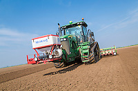 Cultivating for potatoes and applying Nemathorin - Lincolnshire, April