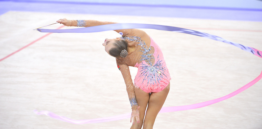 September 25, 2014 - Izmir, Turkey -  MELITINA STANIOUTA of Belarus performs at 2014 World Championships.