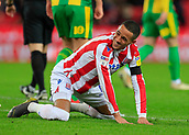 9th February 2019, bet365 Stadium, Stoke-on-Trent, England; EFL Championship football, Stoke City versus West Bromwich Albion; Thomas Ince of Stoke City rues a missed chance