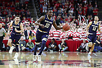 RALEIGH, NC - FEBRUARY 03: Notre Dame's Temple TJ Gibbs. The North Carolina State Wolfpack hosted the University of Notre Dame Fighting Irish on February 3, 2018 at PNC Arena in Raleigh, NC in a Division I men's college basketball game. NC State won the game 76-58.