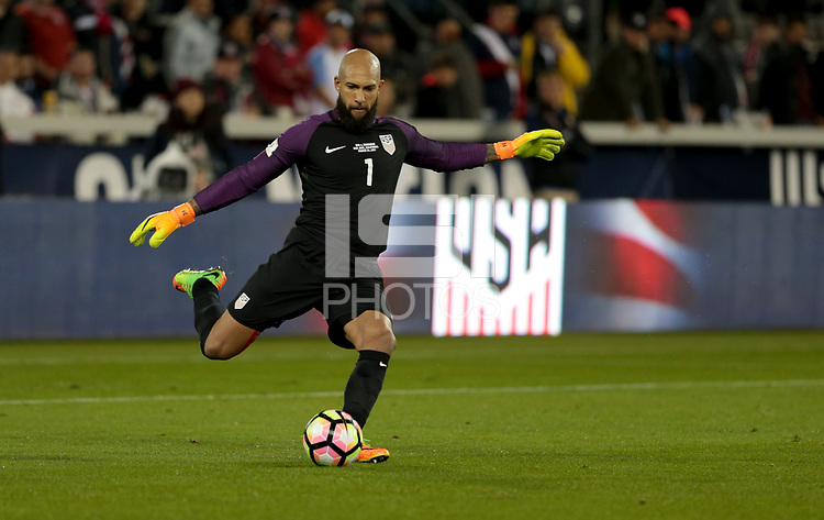 San Jose, CA - March 24, 2017: The U.S. Men's National team go up 1-0 over Honduras in first half action during their 2018 FIFA World Cup Qualifying Hexagonal match at Avaya Stadium.