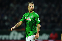 FUSSBALL   1. BUNDESLIGA    SAISON 2012/2013    17. Spieltag   SV Werder Bremen - 1. FC Nuernberg                     16.12.2012 Lukas Schmitz (SV Werder Bremen) ist enttaeuscht