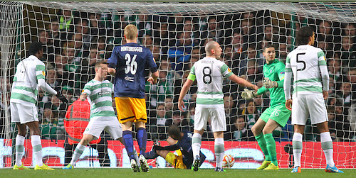 27.11.2014. Glasgow, Scotland. Europa League Group Stages Qualifying Round. Celtic versus FC Red Bull Salzburg. Alan scores to make it 2-0
