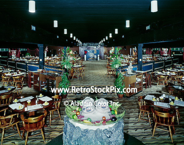 Captains Table Restaurant, Wildwood NJ. Interior. 1960's.