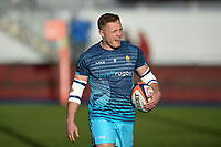 Luke Baldwin of Worcester Warriors looks on during the pre-match warm-up. Premiership Rugby Cup match, between Saracens and Worcester Warriors on November 11, 2018 at Allianz Park in London, England. Photo by: Patrick Khachfe / JMP