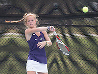 NWA Democrat-Gazette/J.T. WAMPLER Fayetteville High School's Macy Houston competes Wednesday Oct. 5, 2016 at the 7A-West Tennis Tournament in Bentonville.