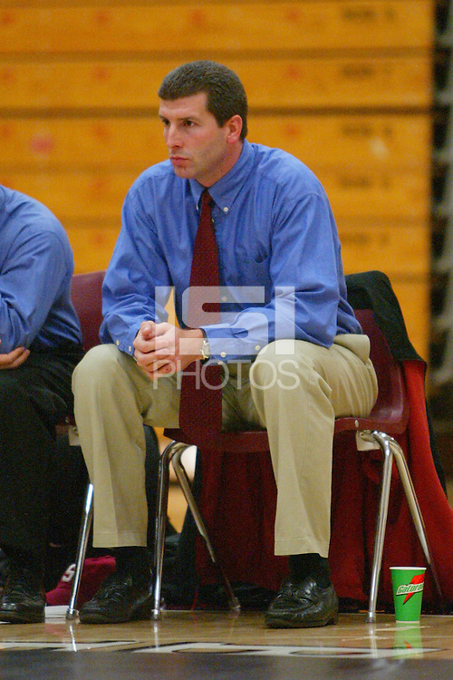 4 February 2005: Stanford Cardinal head coach Steve Buddie during Stanford's 25-12 loss to Fresno State at Burnham Pavilion in Stanford, CA.