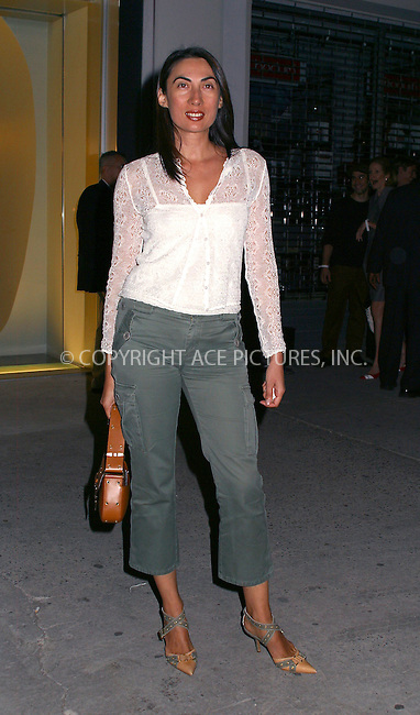 Ahn Duong at Alexander McQueen New York store opening in New York's Meatpacking District. September 5, 2002. Please byline: Alecsey Boldeskul/NY Photo Press.   ..*PAY-PER-USE*      ....NY Photo Press:  ..phone (646) 267-6913;   ..e-mail: info@nyphotopress.com