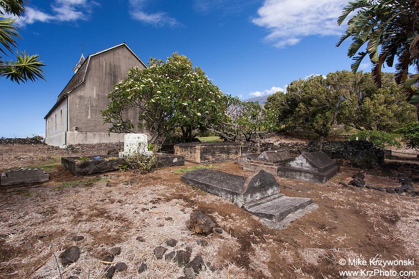 St. Joseph Church cemetery, Kaupo, Maui