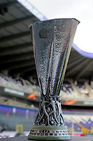 La Coppa <br /> BRUSSELS , BELGIUM - APRIL 13 : The UEFA Europa League Trophy pictured before the UEFA Europa League quarter final first leg match between Rsc Anderlecht and Manchester United in Brussels, Belgium 13/04/2017. Trophee<br /> Bruxelles 13-04-2016 <br /> Anderlecht - Manchester United Europa League <br /> Foto Panoramic / Insidefoto <br /> ITALY ONLY