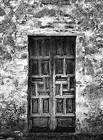 Door at Mission Concepcion, San Antonio, Texas.<br /> <br /> Canon EOS 1, Tokina 100mm macro lens, Kodak TMAX film