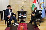 Palestinian Prime Minister Mohammad Ishtayeh meets with representative of Canada to Palestine Douglas Scott, in the West Bank city of Ramallah, April 16, 2019. Photo by Prime Minister Office