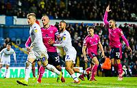 Leeds United's Kemar Roofe celebrates scoring his side's equalising goal to make the score 1-1<br /> <br /> Photographer Alex Dodd/CameraSport<br /> <br /> The EFL Sky Bet Championship - Leeds United v Queens Park Rangers - Saturday 8th December 2018 - Elland Road - Leeds<br /> <br /> World Copyright &copy; 2018 CameraSport. All rights reserved. 43 Linden Ave. Countesthorpe. Leicester. England. LE8 5PG - Tel: +44 (0) 116 277 4147 - admin@camerasport.com - www.camerasport.com