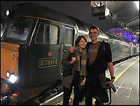 BNPS.co.uk (01202 558833)<br /> Pic: AllTheStations/BNPS<br /> <br /> Paddington station.<br /> <br /> A pair of railway enthusiasts are on an epic train journey to become the first people to visit every station in Britain. <br /> <br /> Eccentrics Geoff Marshall, 44, and Vicki Pipe, 34, are three weeks into the adventure, which will see them visit 2,563 stations in just three months. <br /> <br /> The couple of seven years from London began in Penzance and have already visited 750 stations, covering the entire South, South West and much of London. <br /> <br /> After visiting an average of 30 stations per day their trip will conclude in August in Thurso, the British mainland's most northernmost town.