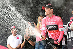Rohan Dennis (AUS) BMC Racing Team takes over the leaders Maglia Rosa at the end of Stage 2 of the 101st edition of the Giro d'Italia 2018 running 167km from Haifa to Tel Aviv, Israel. 5th May 2018.<br /> Picture: LaPresse/Massimo Paolone | Cyclefile<br /> <br /> <br /> All photos usage must carry mandatory copyright credit (&copy; Cyclefile | LaPresse/Massimo Paolone)