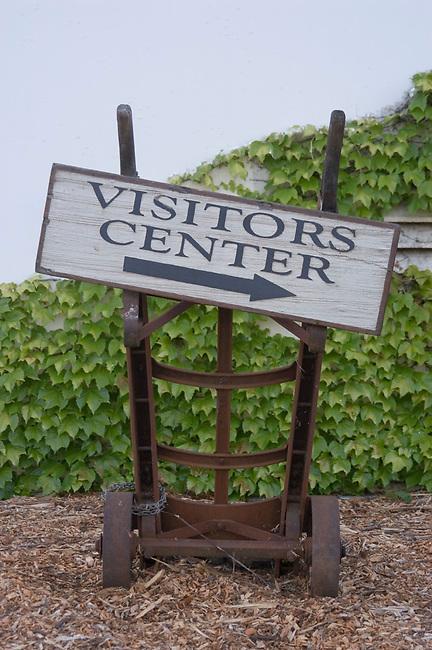 Sign at Napa Valley vineyard