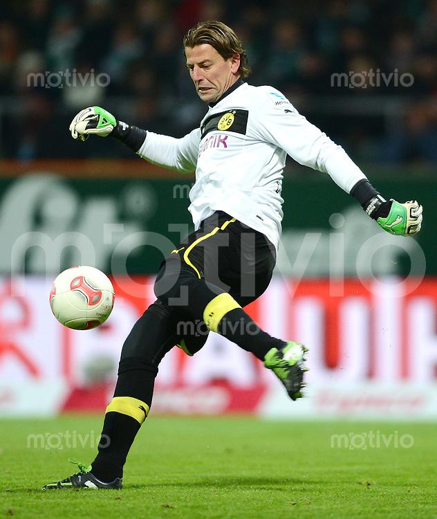 FUSSBALL   1. BUNDESLIGA   SAISON 2012/2013    18. SPIELTAG SV Werder Bremen - Borussia Dortmund                   19.01.2013 Torwart Roman Weidenfeller (Borussia Dortmund)